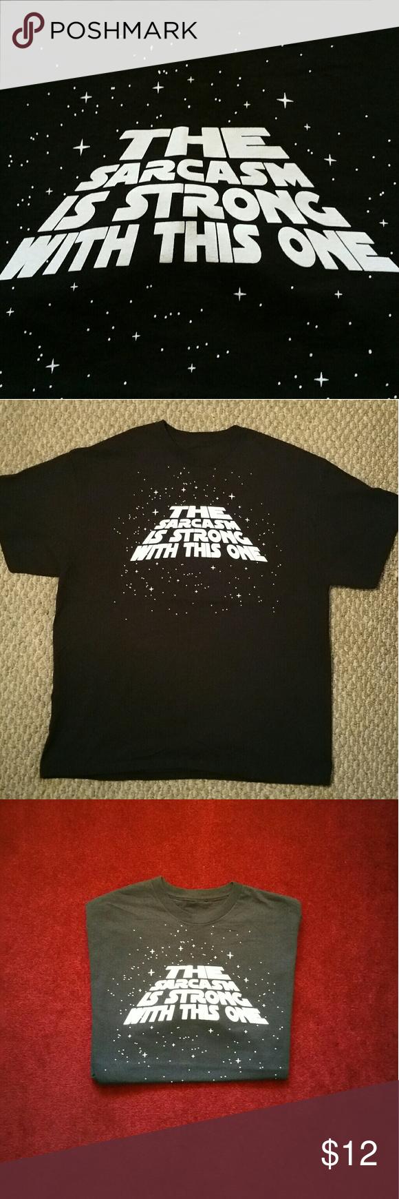 Women's Sarcasm Crew Neck T-Shirt No Known Brand, size 2XL, *bundle friendly* Tops Tees - Short Sleeve