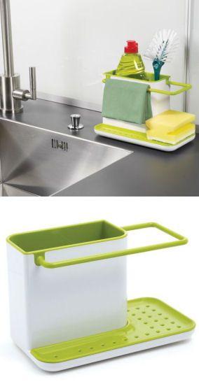 space saving kitchen sink caddy clean green organize - Kitchen Sink Organizer