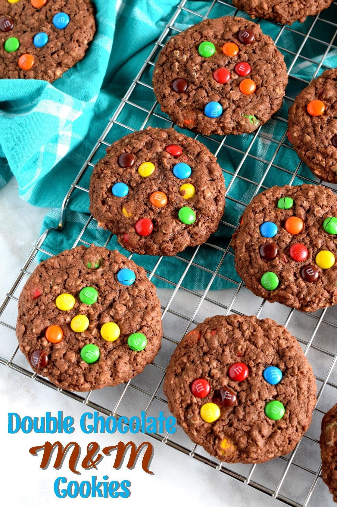 Double Chocolate M M Cookies Lord Byron S Kitchen Food Processor Recipes Cookie Calories M M Cookies