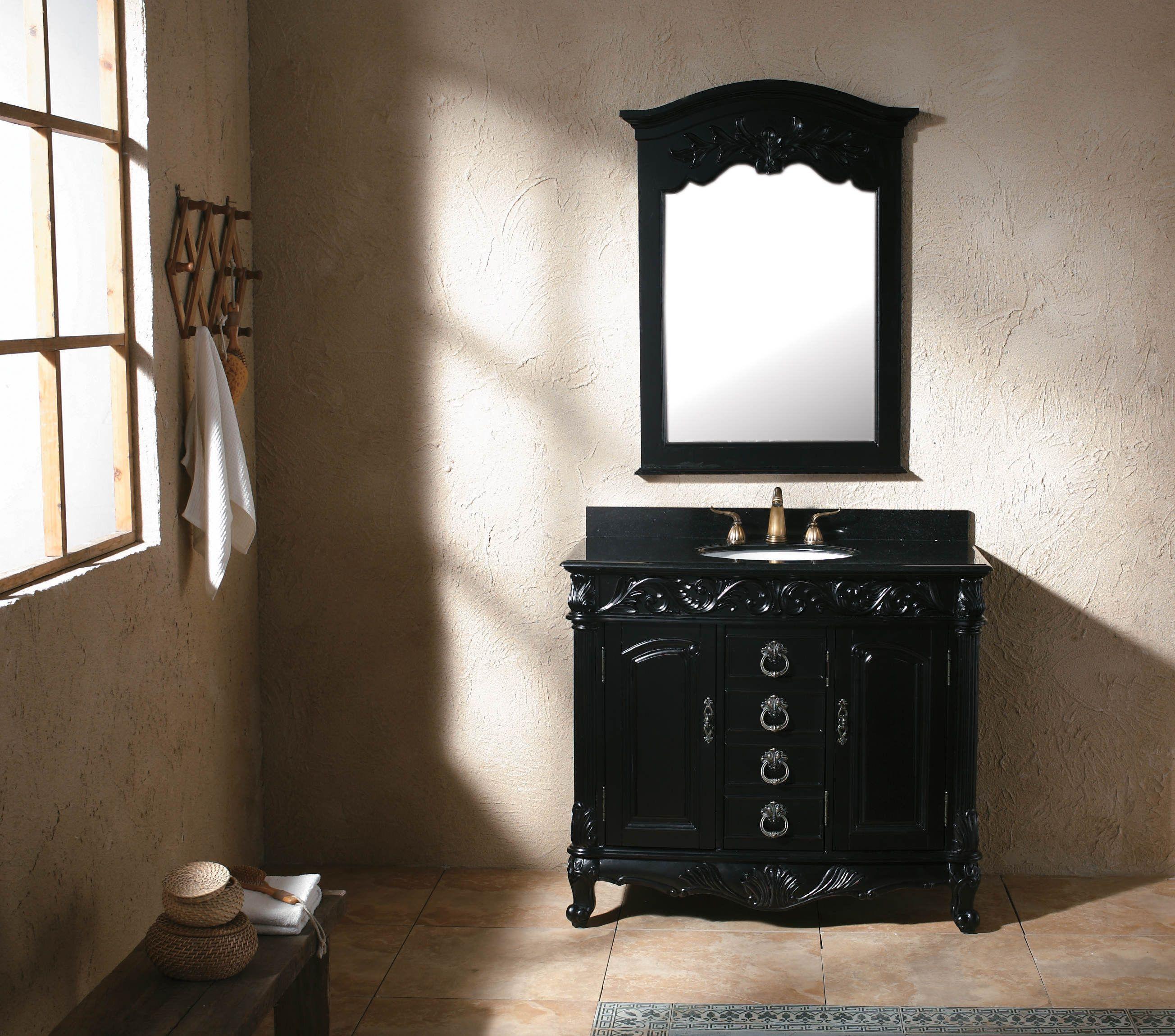 Bad eitelkeit design zoll bad eitelkeit schwarz badezimmer  badezimmer  pinterest