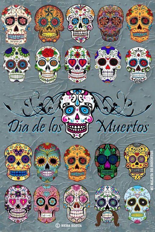Mexican Sugar Skull Calaca Day of The Dead Mens Neck Tie D/ía de los Muertos