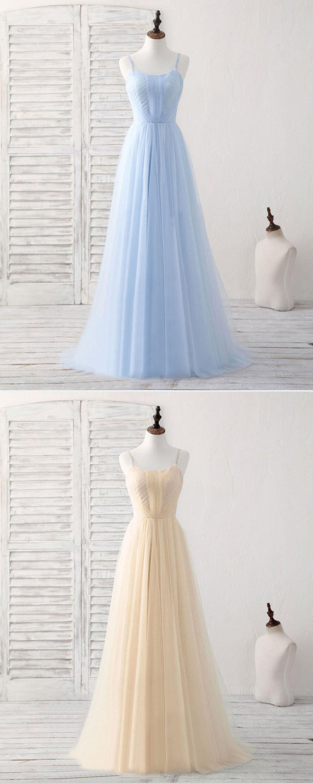 Simple blue chiffon long halter sweet prom dress evening dress