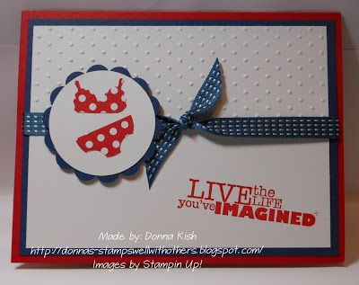 Stamps Well With Others: Itsy Bitsy Teeny Weenie... Red Polka Dot Bikini