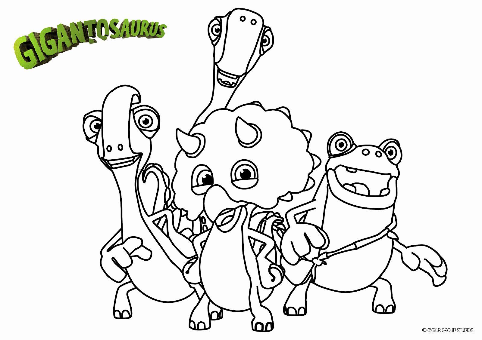 Disney Jr Printable Coloring Pages Awesome Gigantosaurus ...