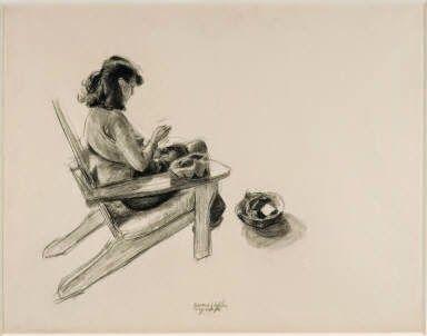 """Art history: """"Jo In Wyoming"""" - Edward Hopper - 1946"""