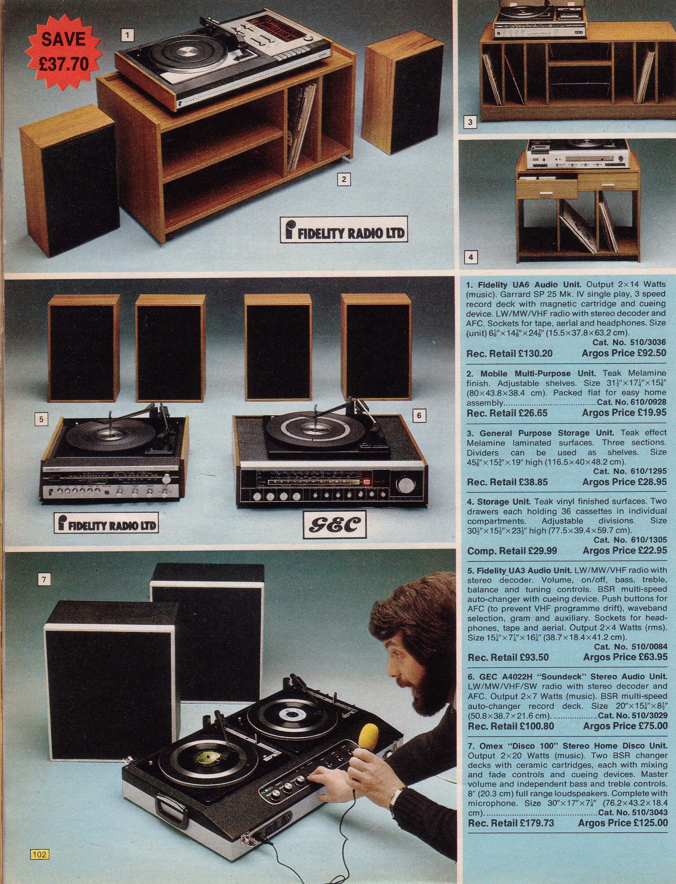 Page 102 | Old Argos catalogue of 1976 | Record player, Argos