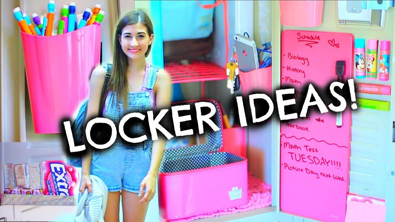 back to school locker organization & diy decorations | tumblr
