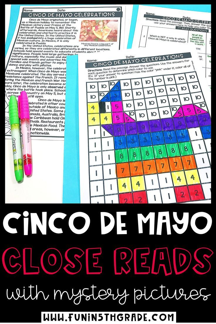 Cinco de Mayo Activities Cinco de Mayo Reading