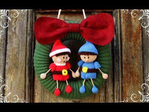 Tutorial De Amigurumis Navideños : Ghirlanda natalizia con elfi amigurumi tutorial creatività
