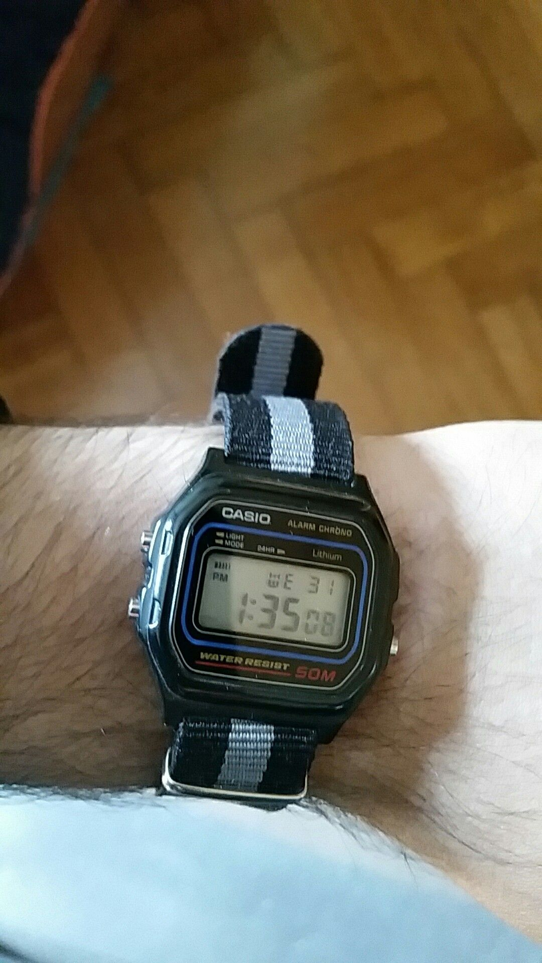 543e4ecd30 Casio w59 with a 18mm NATO strap   watches   Reloj, Pensamientos, Ropa