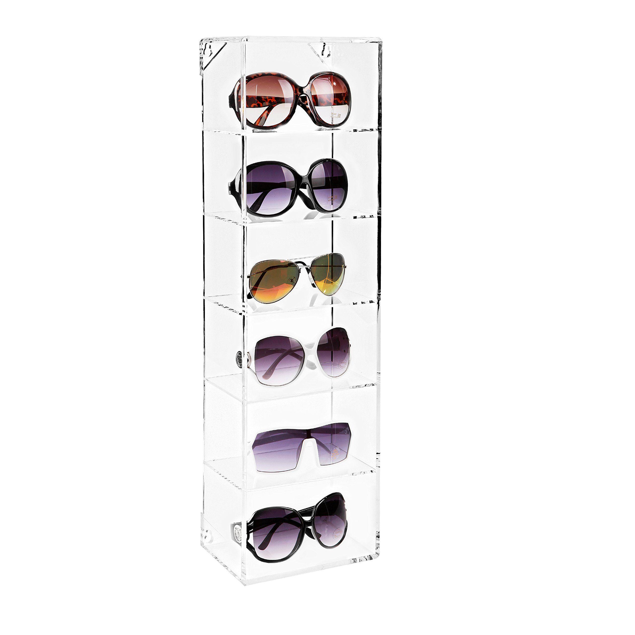 5 Pair Sunglasses Glasses Fashion Hot Transparent Holder Stand Display