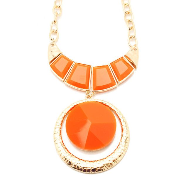 jeweled medallion necklace ❤ liked on Polyvore