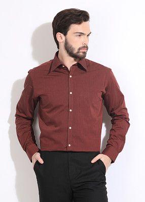172d3b36 Park Avenue Men's Solid Formal Shirt | Men Formal Shirts | Formal ...