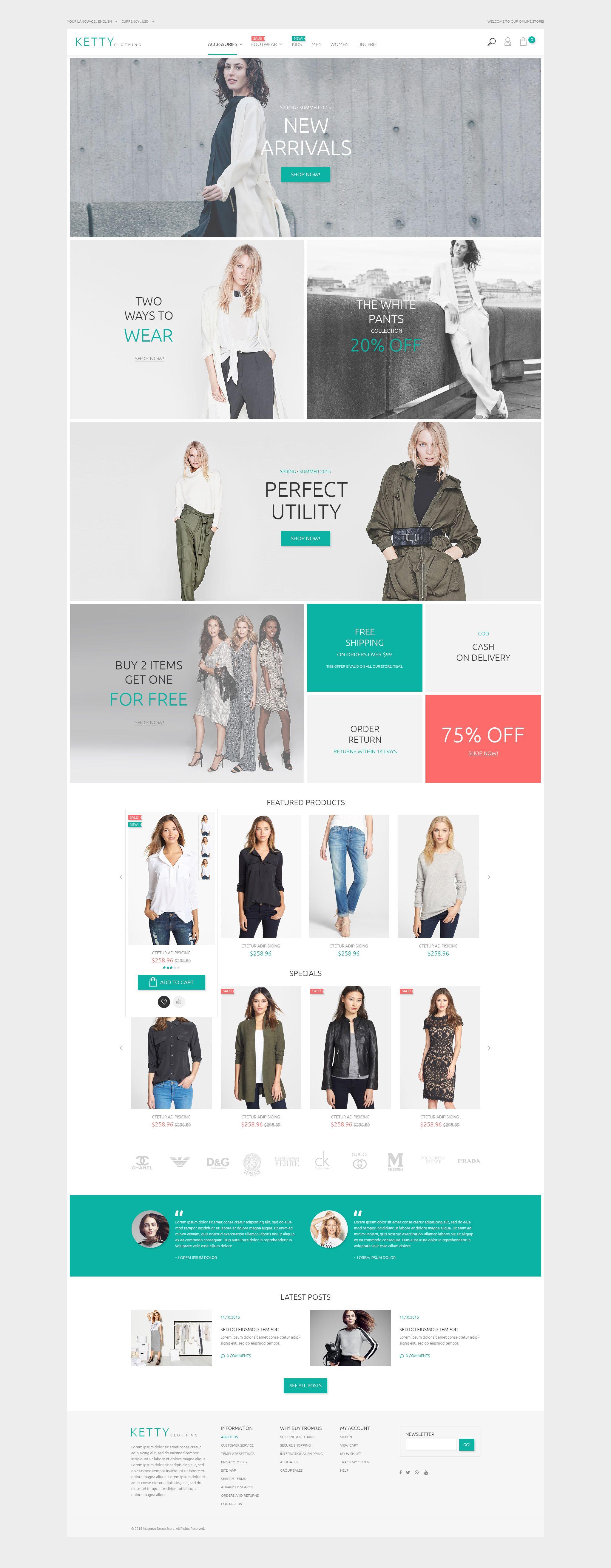 Ketty - Clothing Store Magento Theme