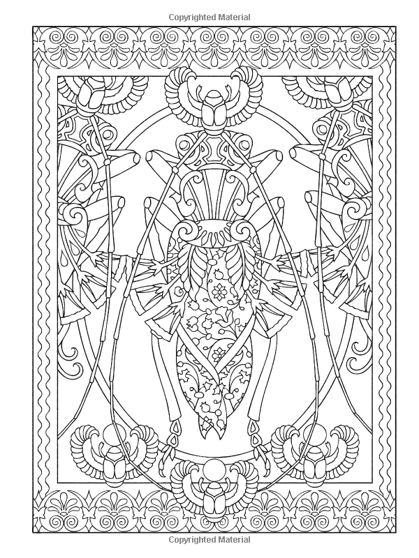 Creative Haven Incredible Insect Designs Coloring Book, Dover ...