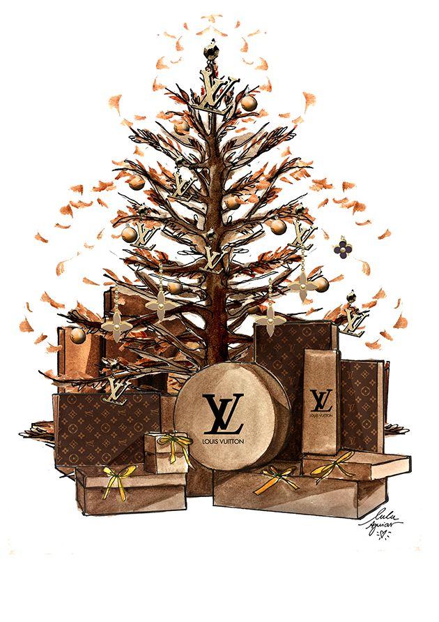 Árvores de Natal das grifes por Lulu Aguiar!