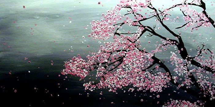Sakura By Moon Fayth Sakura Art Quilts Sakura Tree