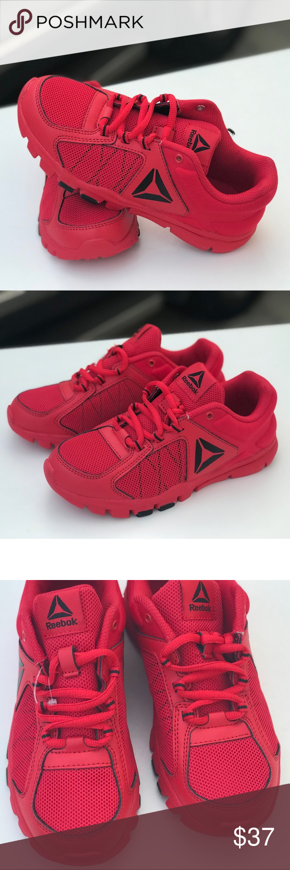 reebok shoes in red colour