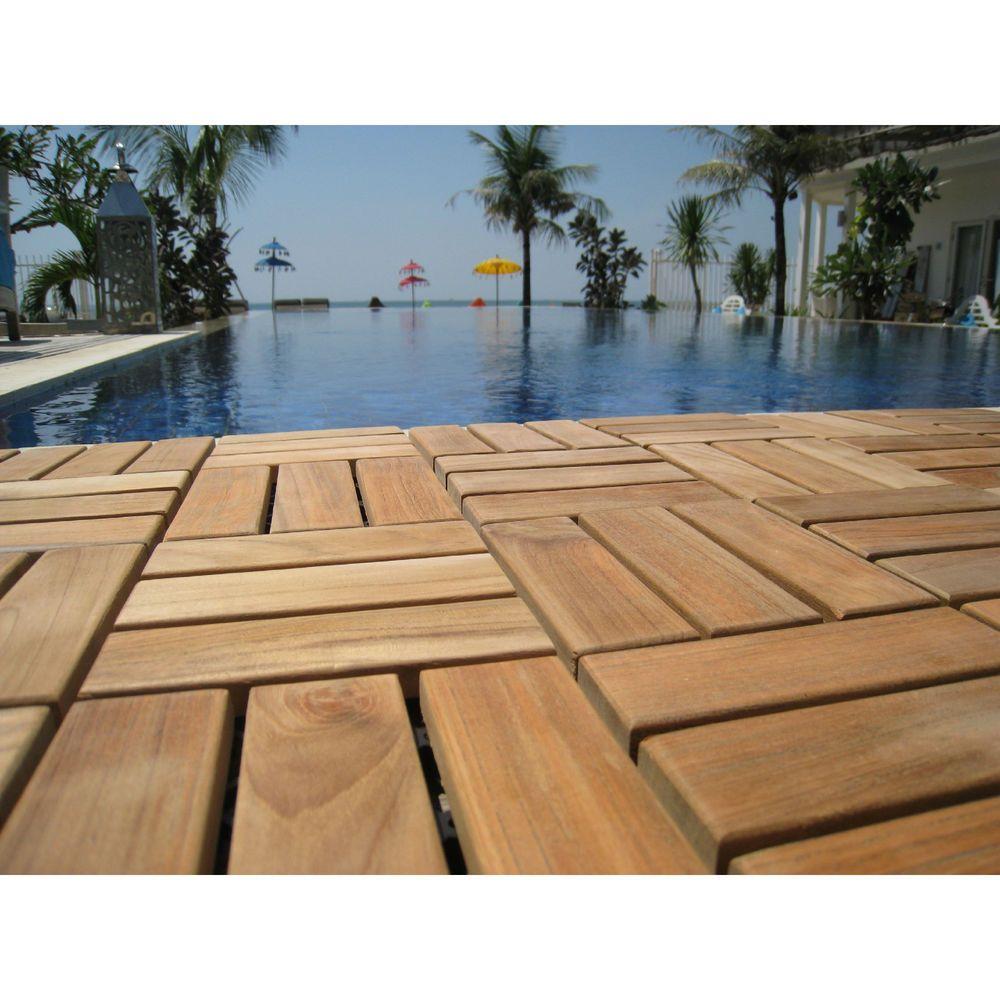 Floor Tiles Interlocking Wood 12 X12 Indoor Outdoor Floating