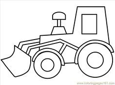 Printable Coloring Pages Trucks Coloring Pages Truck14 Transport Construction Free P Tractor Coloring Pages Coloring Pages For Kids Easy Coloring Pages