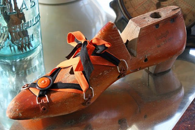 Wooden Shoe Form Add Metal Picture Hanging Hardware For
