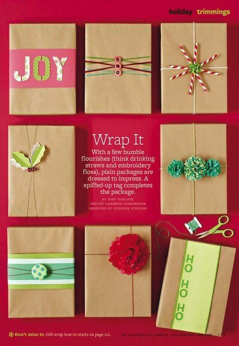Envolver regalos de forma original, las mejores ideas WRAP  ART