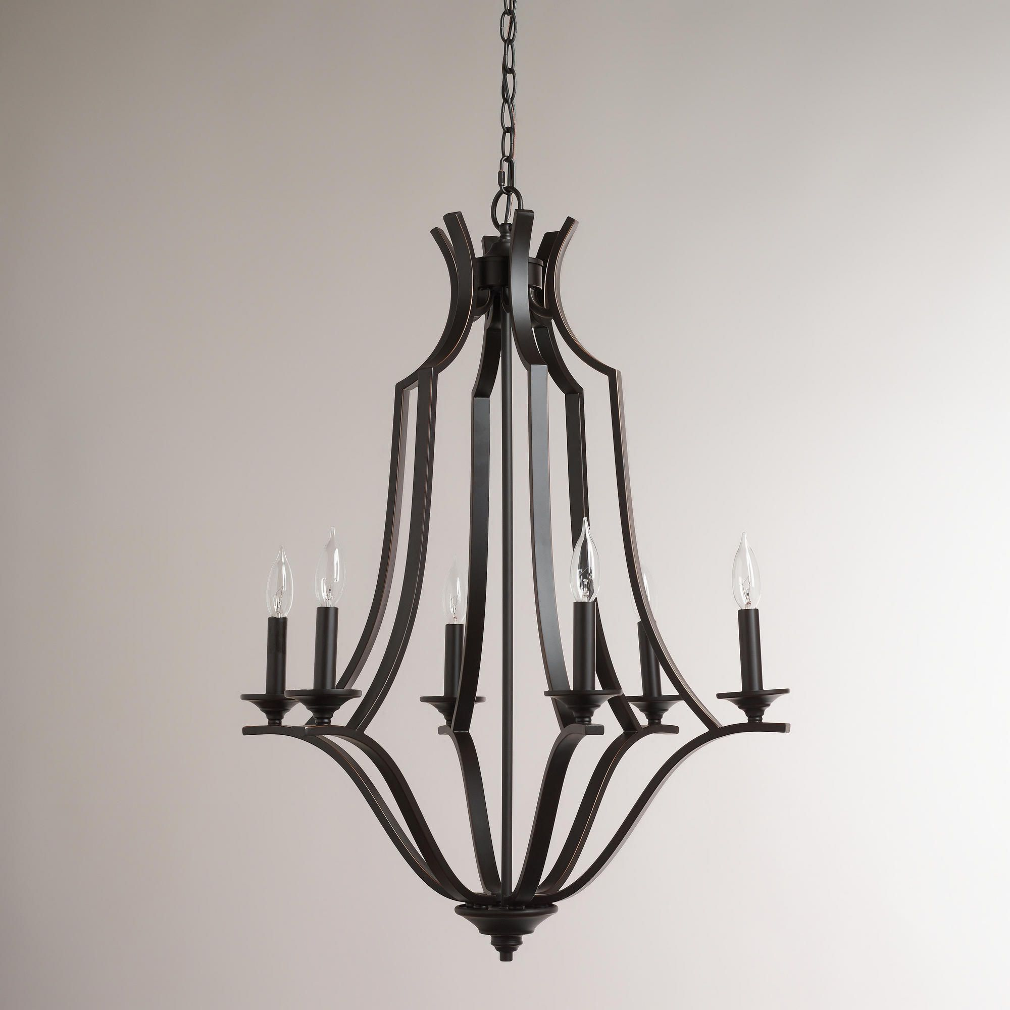 Large Iron Chandelier With Images Iron Chandeliers Foyer