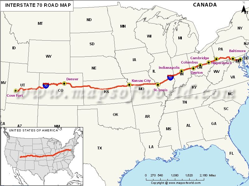 Usa Interstate 70 Map Us Maps Map Us Map Utah - Maryland-on-us-map