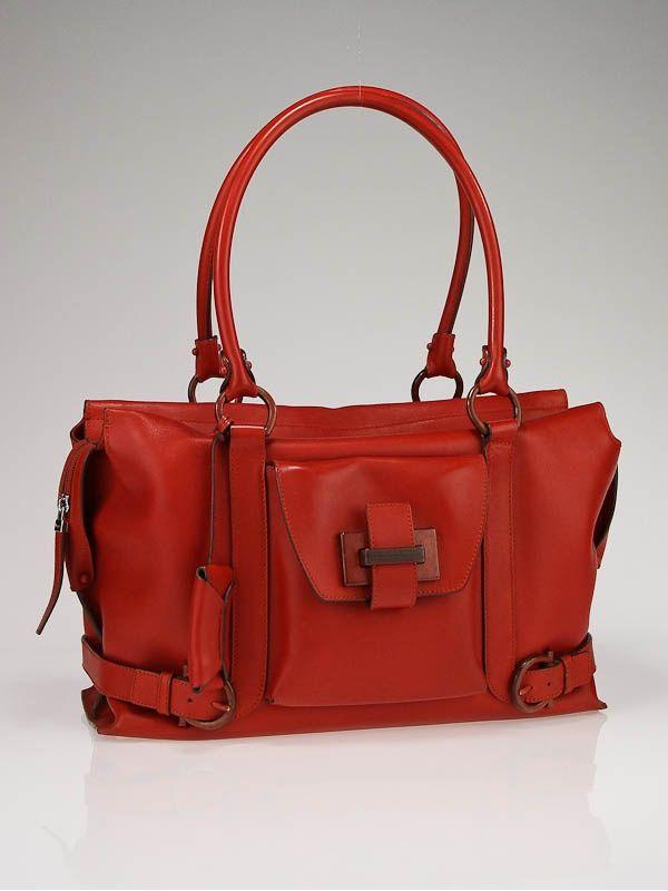 dcfea08ca429 tangerine leather medium satchel handbag by Salvatore Ferragamo