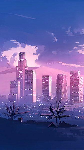 City Wallpaper 1920x1080 : wallpaper, 1920x1080, City,, Buildings,, Digital, Angeles,, Cityscape,, 3840x2160,, 1920x1080,, #Cities, Https://livew…, Wallpaper,, Aesthetic, Wallpapers,, Scenery, Wallpaper