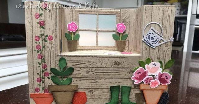 The Potting Shed Bench Fold Card By Louise Kate The Craft Spa Fancy Fold Cards Window Cards Fun Fold Cards