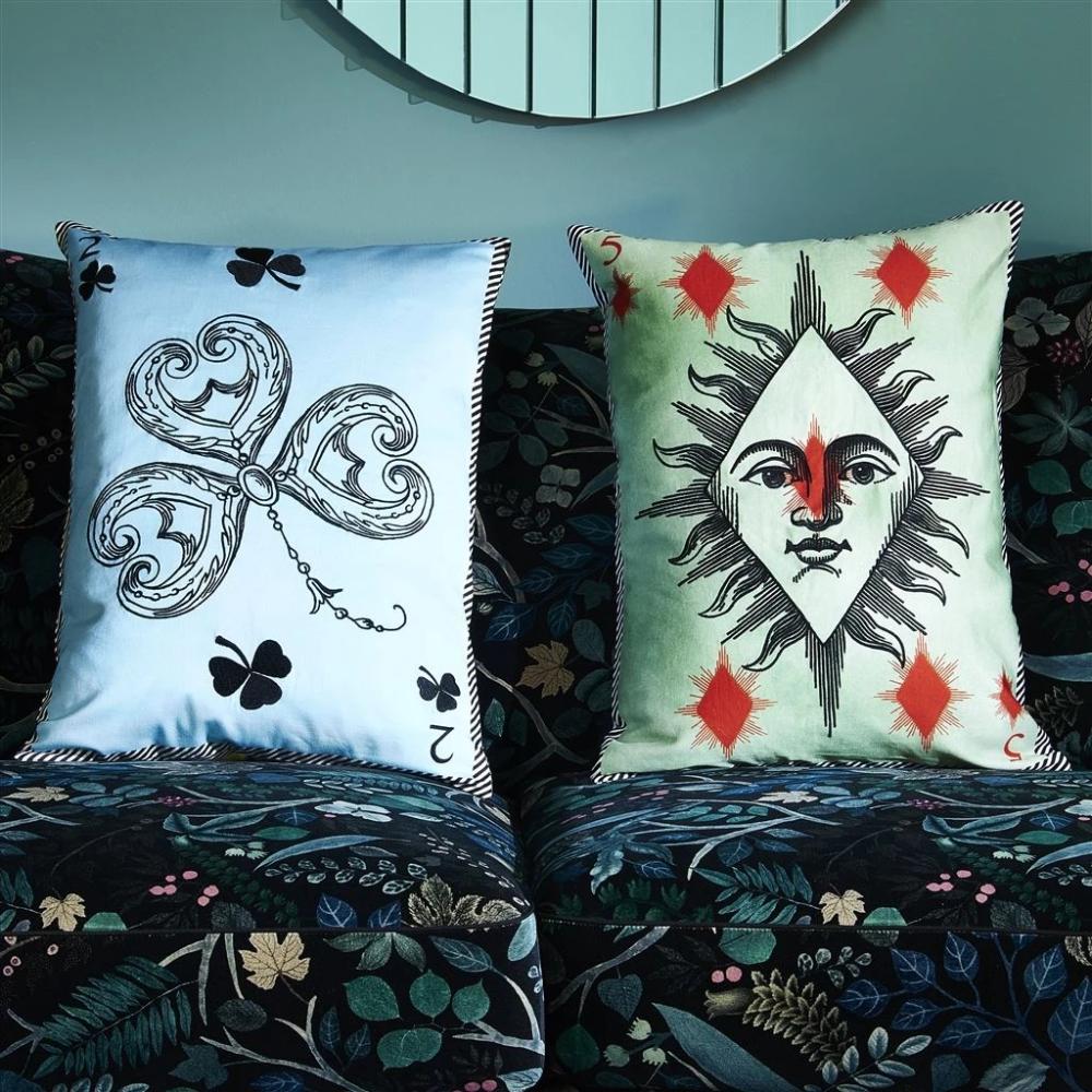 The Madame Fleur Printemps Cushion by designer Christian