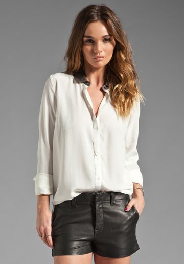BY ZOE Glitter Blouse in Off White