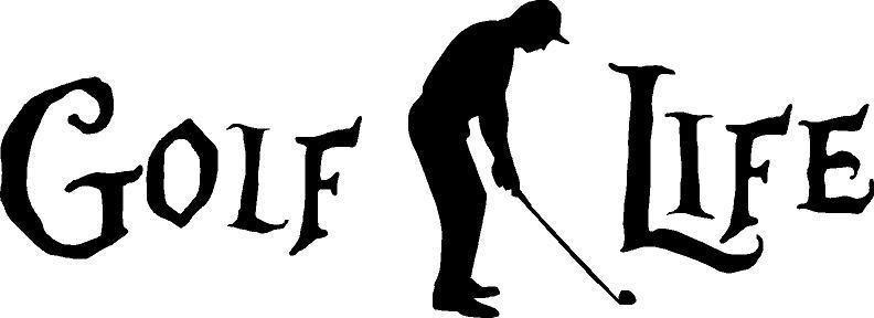 GOLF LIFE golfing decal sticker truck car window decals