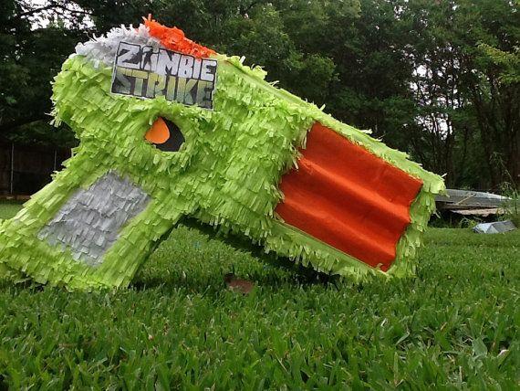 Zombie gun pinata birthday pinata by Mylittlesofy on Etsy