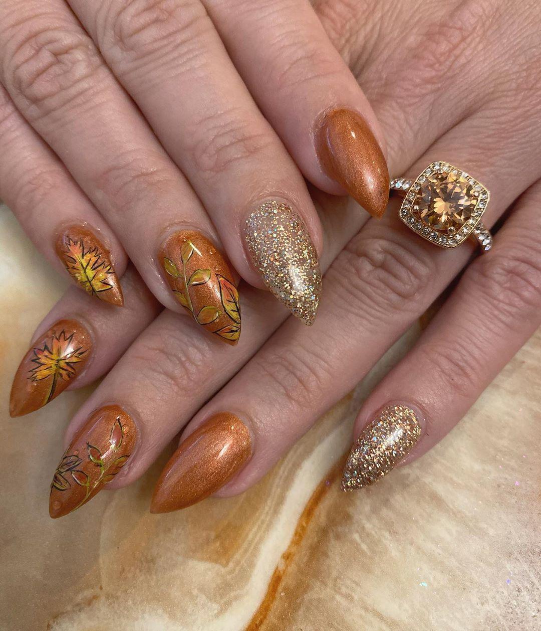 #fallnails #nailsofinstagram #nailsonfleek #polished #foilnails    – Fall Nails Ideas