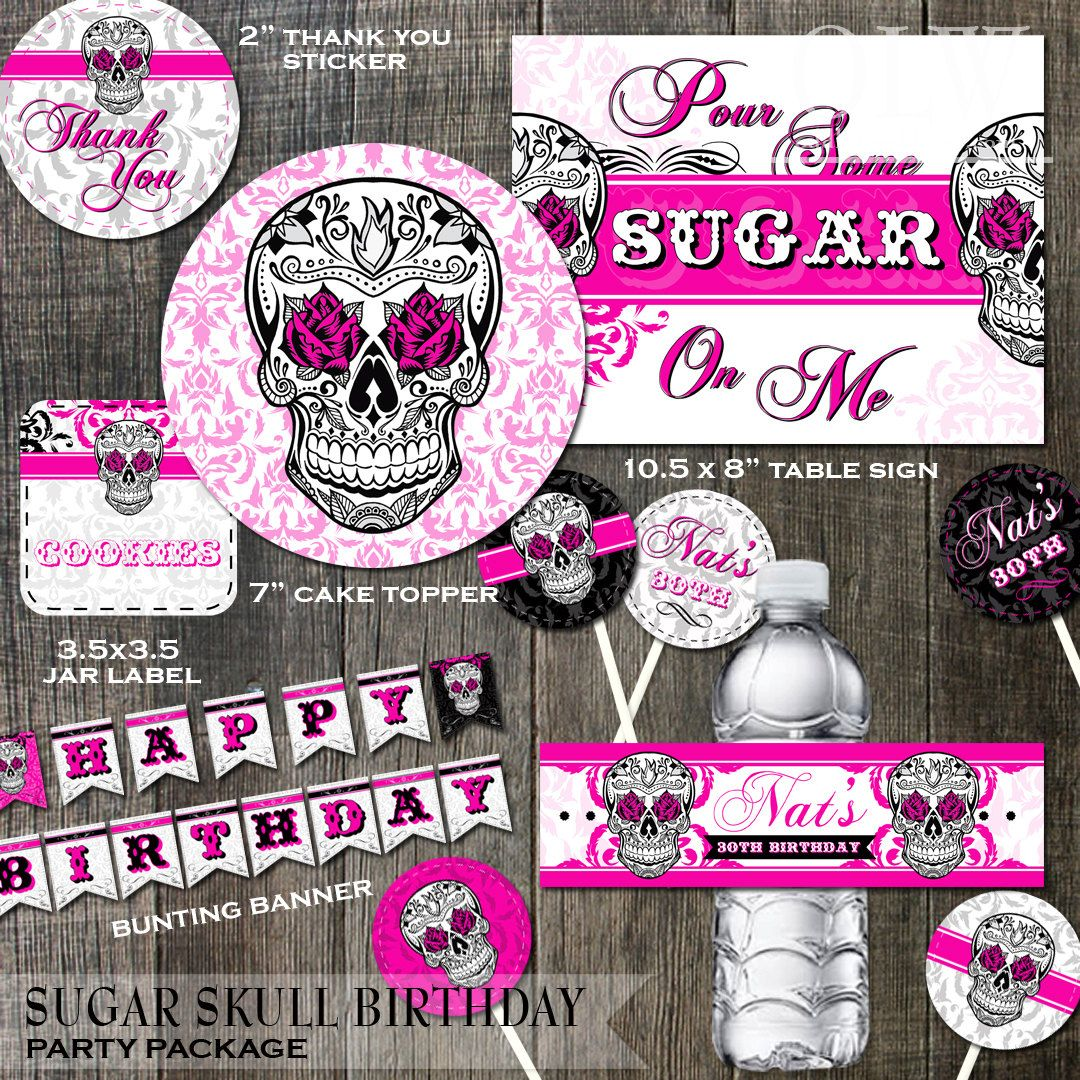 Sugar Skull Birthday Party Decoration Package 7 By OddLotEmporium 3000