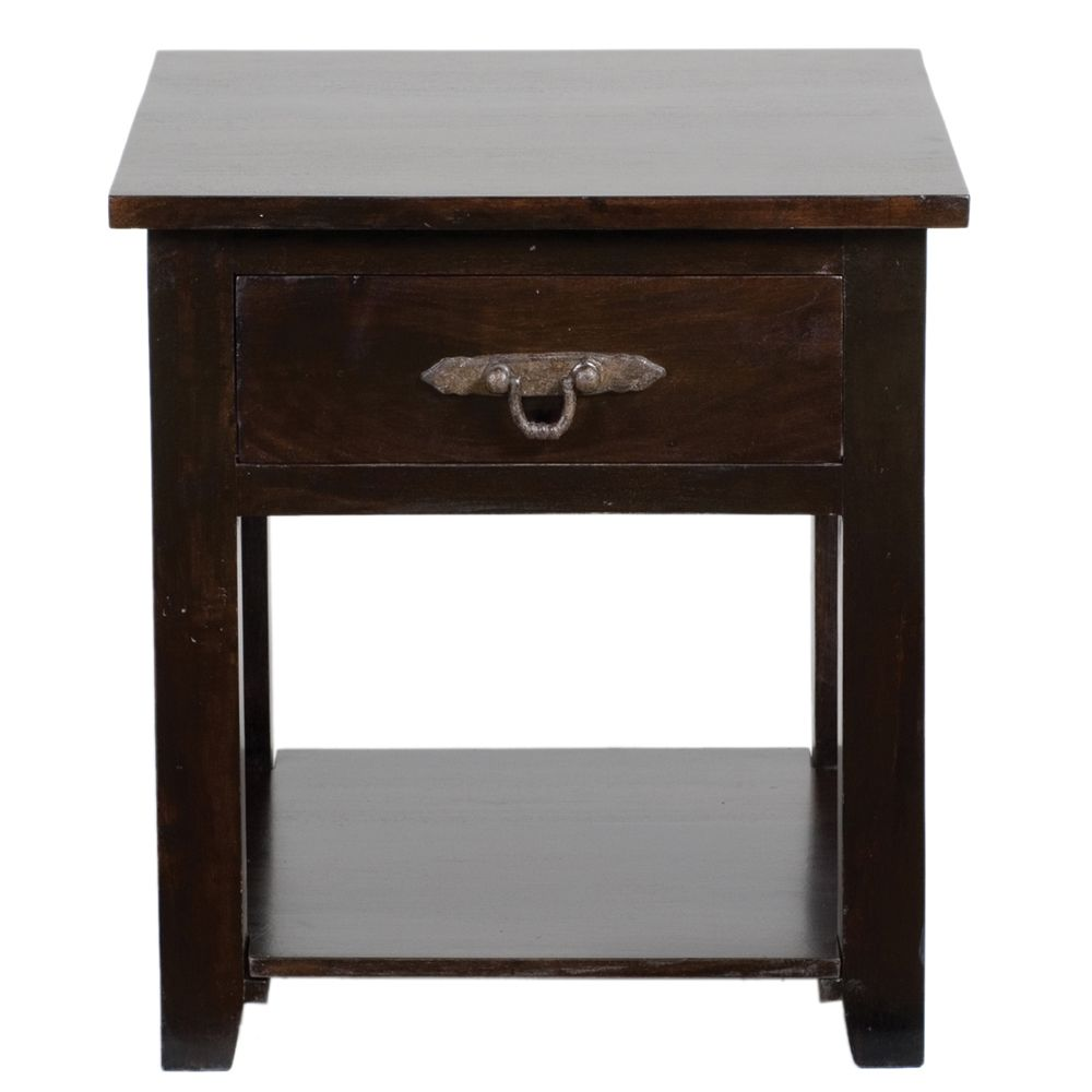 kosas home venice dark mahogany acacia wood side table furniture table furniture. Black Bedroom Furniture Sets. Home Design Ideas