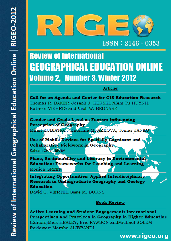 Review Of International Geographical Education Online Higher Ed
