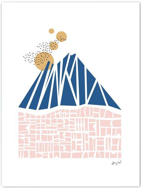 Wallmark formstudio Blue Mountain Print (30x40cm)