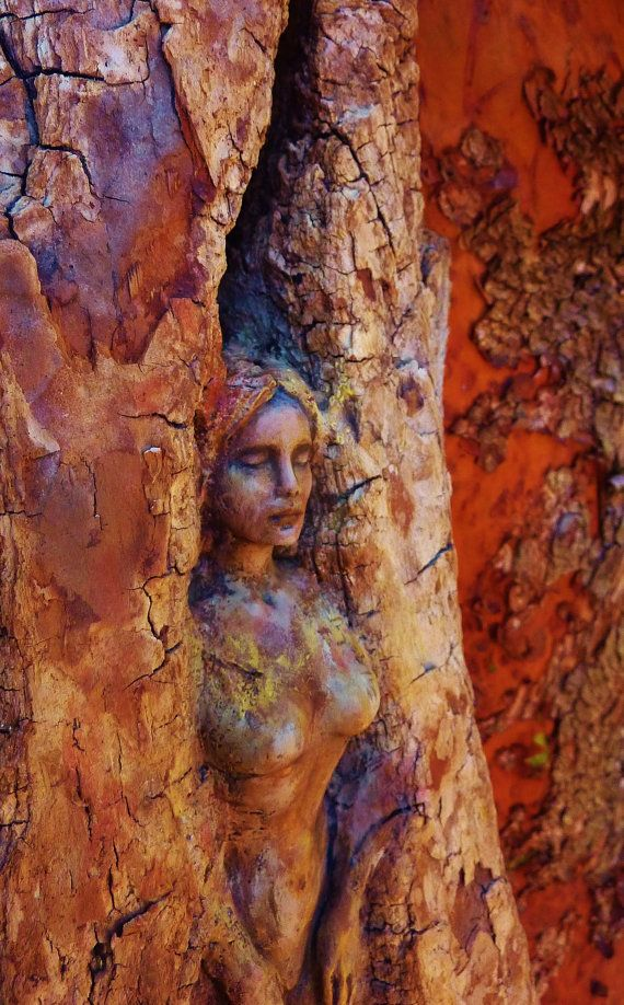 The Deep Heart's Core Tree Spirit Goddess with by ShapingSpirit, $240.00