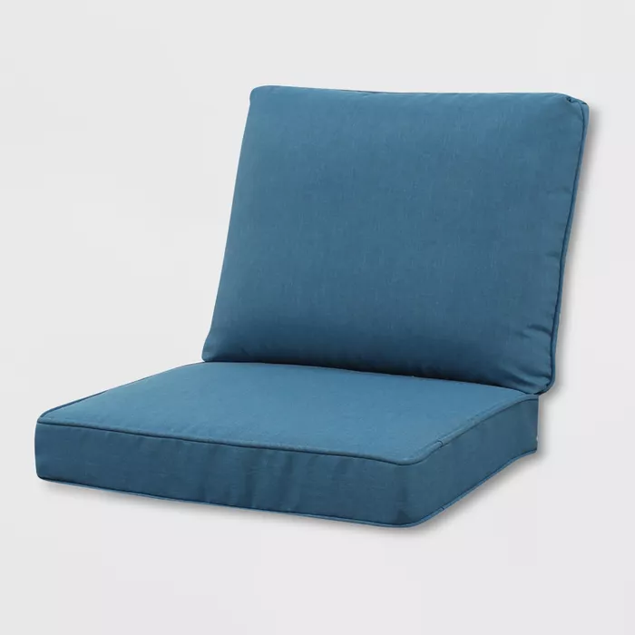 Rolston Outdoor Seat and Back Chair Cushion Blue Grand