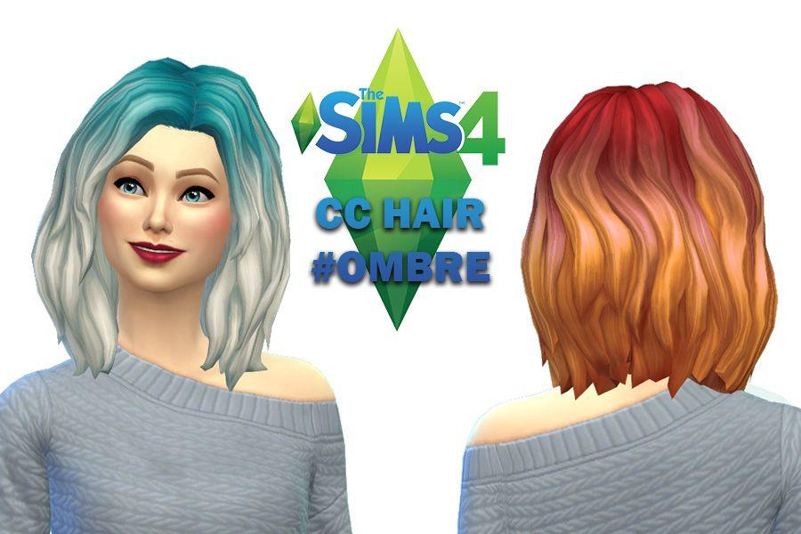 The Sims 4 Cc Ombre Hair Maxis Match Sims 4 Cc Pinterest Sims