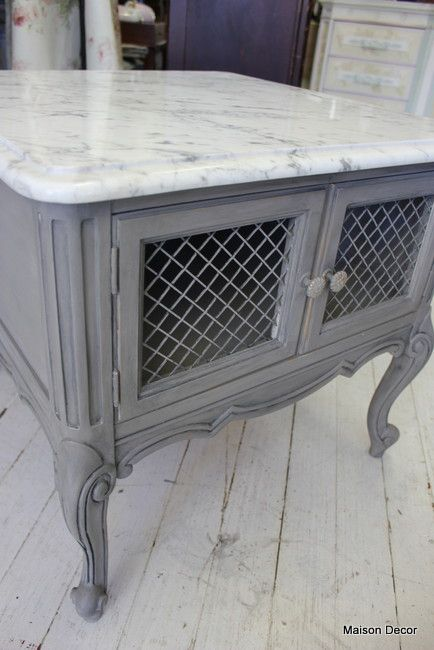 grey french end table repaint those marble top tables you see for sale and replace - Marble Top Table