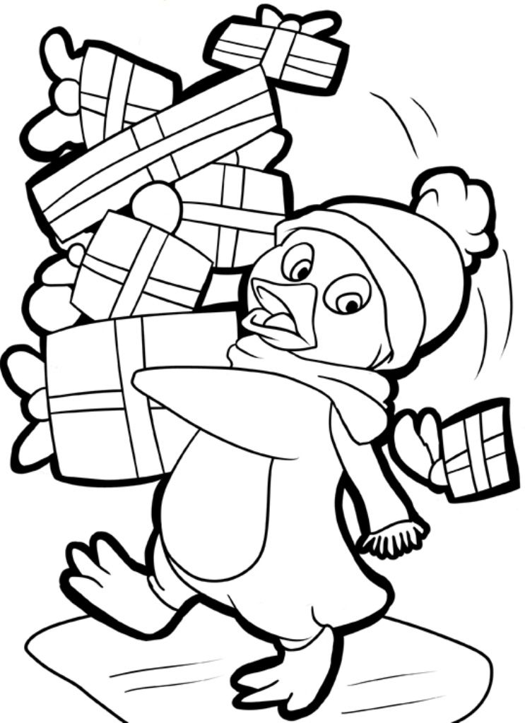 Cute Penguin Coloring Pages and Sheets    freecoloring-pagesorg - new christmas coloring pages penguins