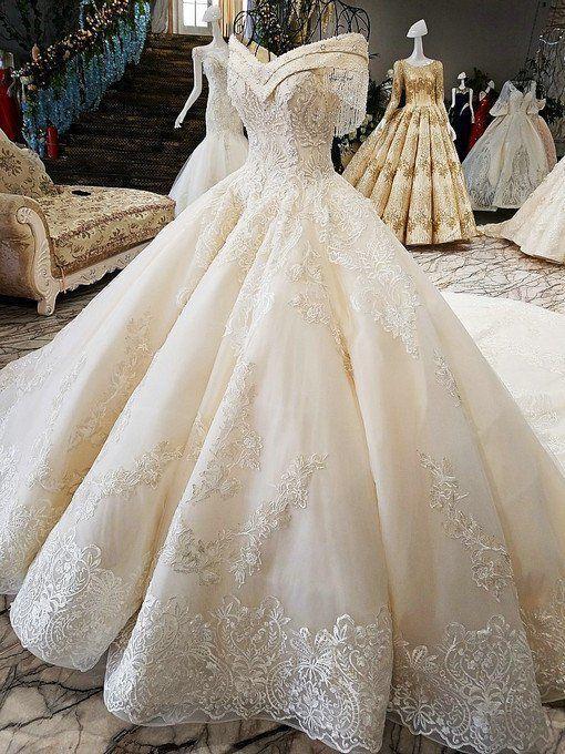 Photo of Weg von der Schulter Ballkleid Hand gemacht wunderschöne Hochzeitskleid –  # Ch…