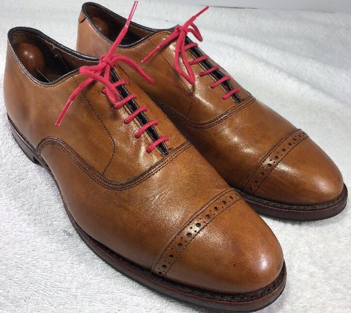 dc7215afe47ae brooks brothers Men's Carmel brown Oxford dress leather Cap Toe shoes Size  9.5 D | eBay
