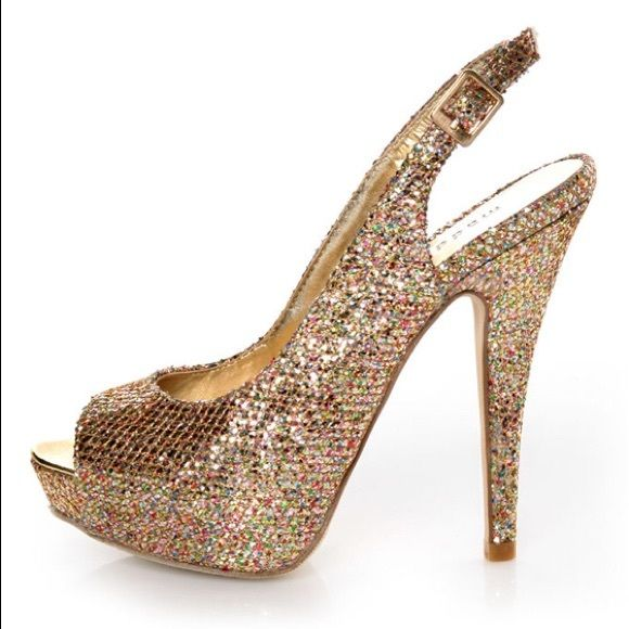 498b7a95884a Gold sparkly madden girl heels Sparkly gold madden girl heels, worn once,  MAYBE twice, feel free to make an offer! Will post pictures of actual shoes  as ...
