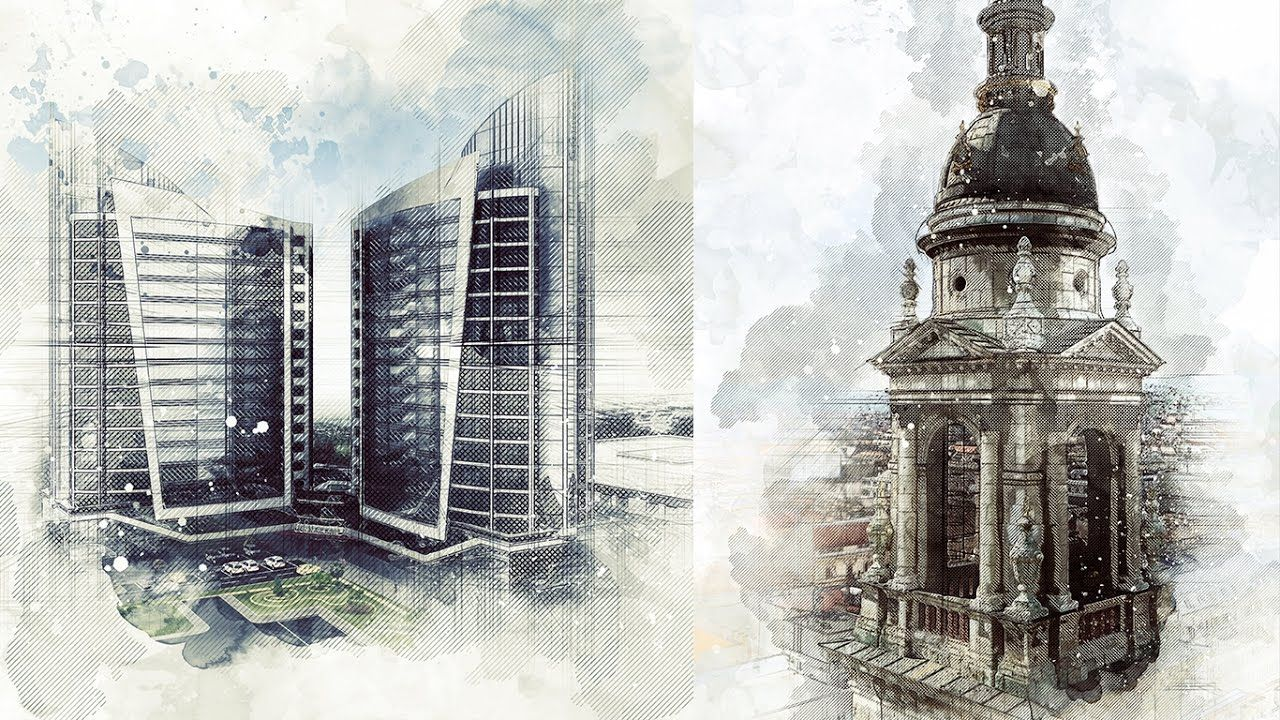 Architecture sketch art photoshop action tutorial photoshop architecture sketch art photoshop action tutorial baditri Image collections