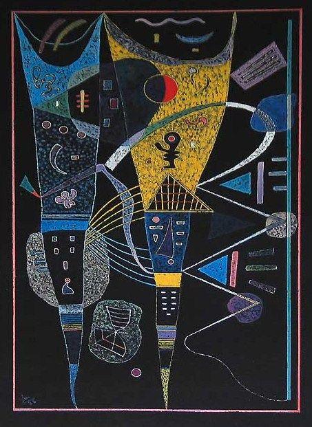 DOUBLE TENSION, 1938 Oil on canvas #kandinsky #kandinski #kandinskij #abstraction #abstractart http://www.wassilykandinsky.net/work-731.php
